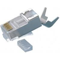 DCP-C70S @ RJ45 Konnektör CAT7 FTP Metal 10Gbps Gold Plated Plug