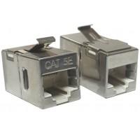 DSB-C5E @ RJ45 Adaptör CAT5E FTP Metal Snap in Coupler