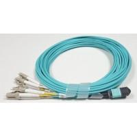 ON-MPO-FB305C @ 40/100Gbps Multimode OM3 8-Core MPO 4*LC Duplex Kablo 5m
