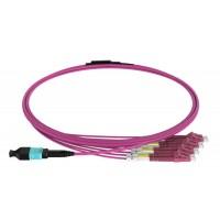 ON-MPO-FB405C @ MPO Breakout Fiber OM4 8-Core 4*LC Duplex 5m