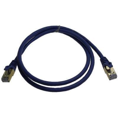 C10-DPC-CP7100@ Data Patch Cord CAT7 10Gbps S/FTP PIMF LSZH Mavi 0.5M