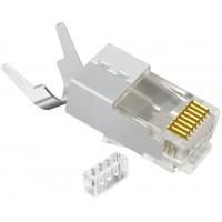 ON-221010 @ RJ45 Konnektör CAT7 FTP Metal 10Gbps Gold Plated Plug