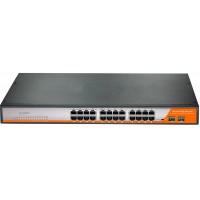 P3026M @ Gigabit Ethernet PoE Switch 24*RJ45 PoE + 2*SFP Managed L2+