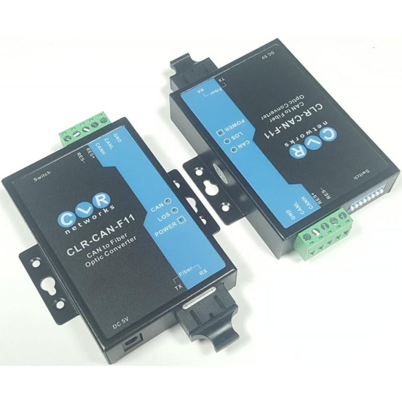 CLR-CAN-F11 @ CAN Bus Singlemode Fiber Optik Çevirici