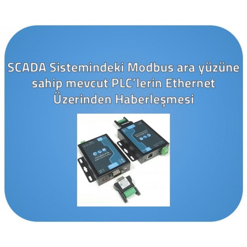 GBT-C1204 - SCADA Sistemindeki Modbus arayüzüne sahip mevcut PLC'lerin Ethernet Üzerinden Haberleşmesi